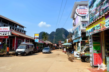 Vang Vieng is a riverside town in Central Laos.